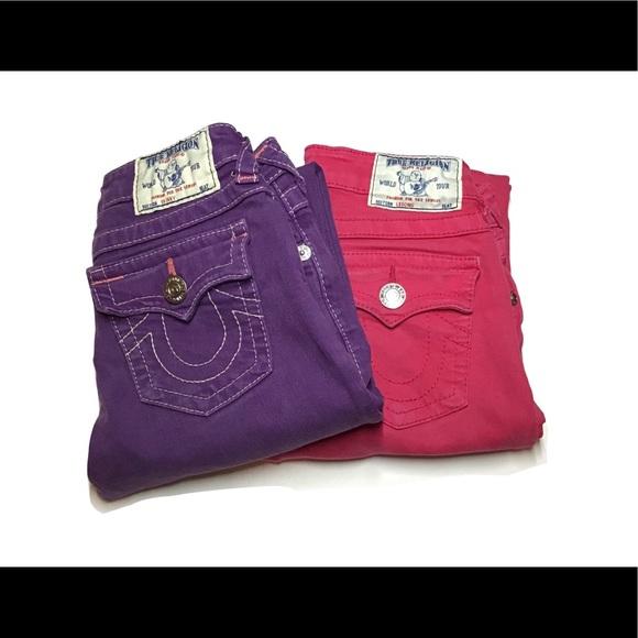 2 Pack of Girls True Religion Jeans